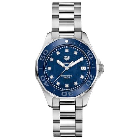 Tag Heuer Women's WAY131L.BA0748 'Aquaracer' Diamond Stainless Steel Watch - Blue