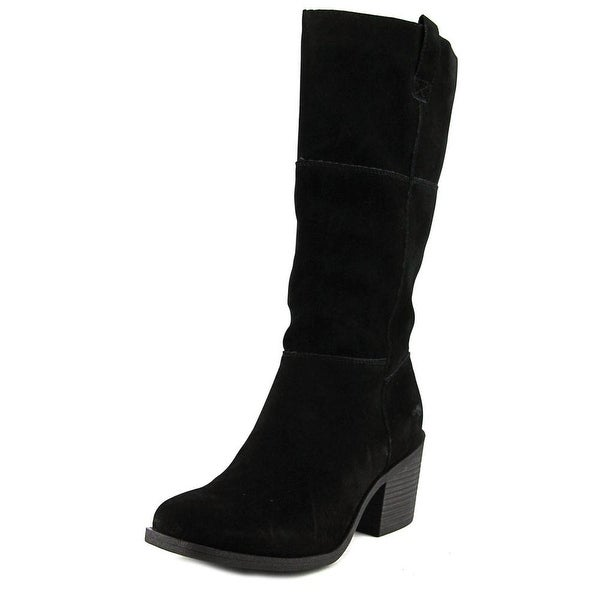 Rocket Dog Dixie Women Round Toe Synthetic Black Mid Calf Boot
