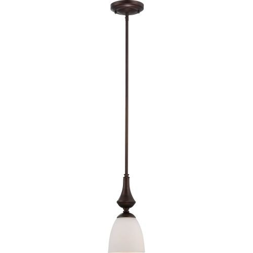 Nuvo Lighting 60/5157 Patton ES Single-Light Mini Pendant with Frosted Glass Shade