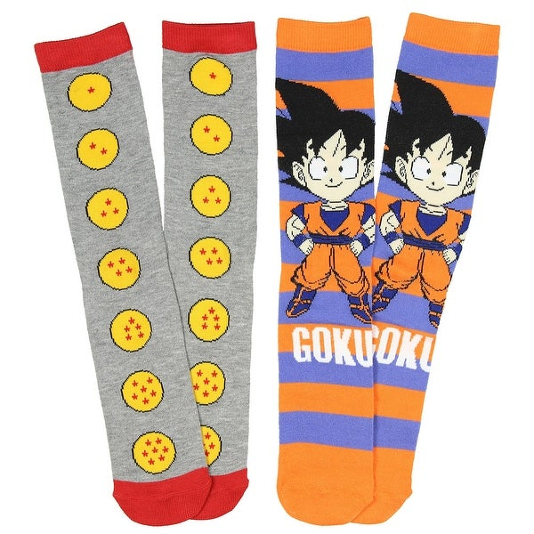 Dragon Ball Z Anime Goku 2 Pack Unisex Crew Socks-One Size Fits Most