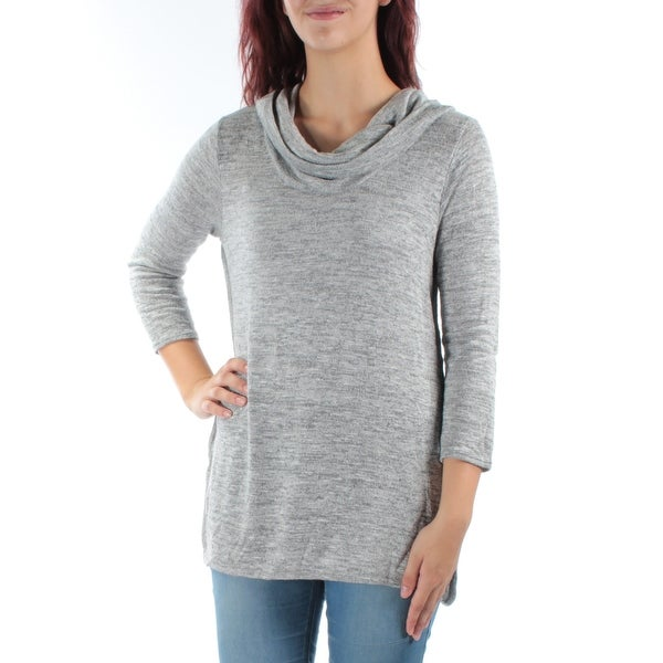 002dce0fd55c1 Shop TOMMY HILFIGER Womens Gray 3 4 Sleeve Cowl Neck Wear To Work Top Size   L - Free Shipping On Orders Over  45 - - 22430664