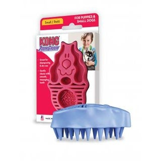Kong Zoomgroom Rubber Brush Raspberry Small