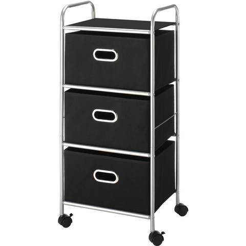 Whitmor 6705-3871-blk-bb 3 drawer chest cart - Black