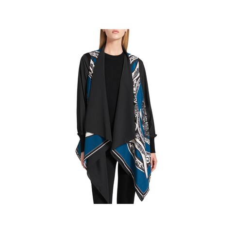 DKNY Womens Casual Vest Printed Drapey