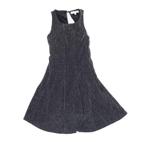 Love Nickie Lew Girl's Dress Black Size 7 Glitter-Metallic Fit & Flare