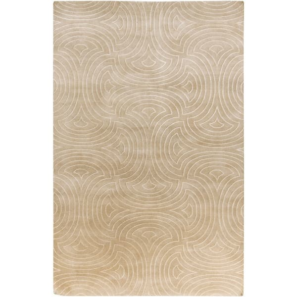 Hand Knotted Rhonda Geometric Pattern Area Rug Overstock 9803983