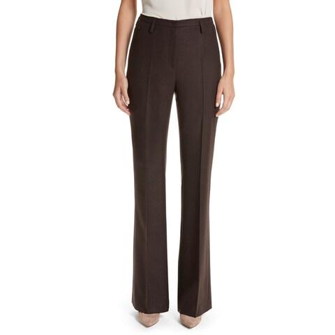 Akris Women's 12X36 Front-Tab Dress Pants Wool Stretch