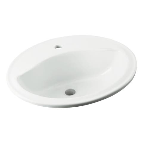 "Sterling 442001 Sanibel 20-1/4"" Drop In Bathroom Sink With One Hole Drilled And Overflow"