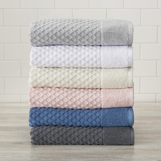 Link to Great Bay Home Grayson Collection Cotton Textured Bath Towel Sets Similar Items in Towels