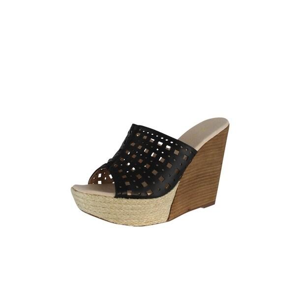 Restricted Womens Spumoni Wedge Sandals - Black