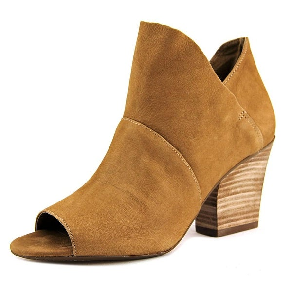 Vince Camuto Chantina Women Open-Toe Leather Tan Bootie