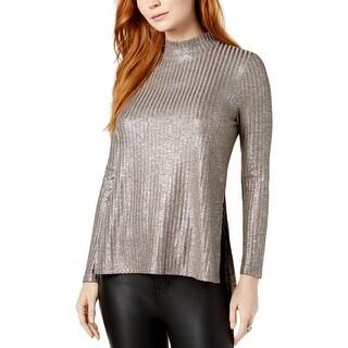 Kensie Womens Pullover Top Metallic Shimmer - XL