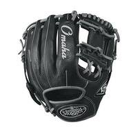 "Louisville Slugger 11.25"" Omaha Baseball Glove (Black/Gray/Right Hand Throw)"