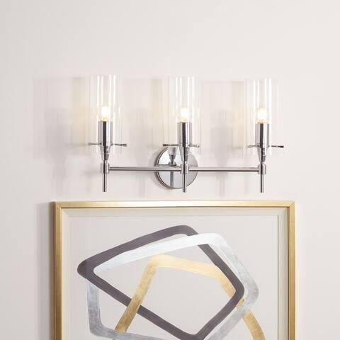 "SAFAVIEH Lighting Norala 3-light LED Vanity Sconce - 20.7"" W x 5.3"" L x 12.6"" H"