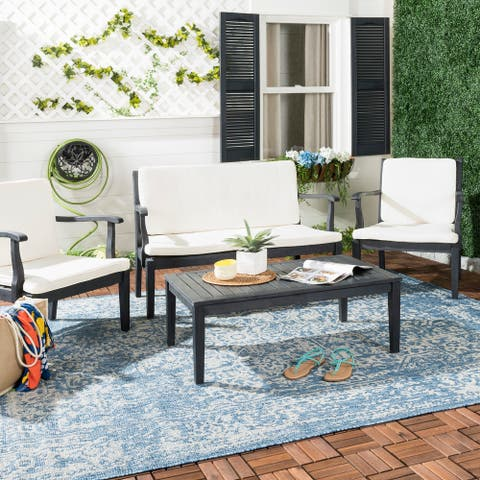Safavieh Outdoor Living Fresno Dark Slate Grey 4-piece Set