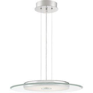"""Platinum PCHV2822 Hover 21-3/4"""" Wide Integrated LED Pendant with a Glass Shade"""
