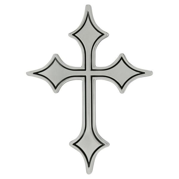 Shop Pilot Automotive Cross Emblem With Black Outline Abs Plastic
