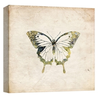 "PTM Images 9-124646  PTM Canvas Collection 12"" x 12"" - ""King Butterfly"" Giclee Butterflies Art Print on Canvas"