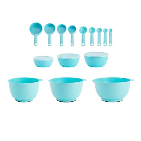 Farberware 5242904 Pro Mix and Measure 18 Piece Set - Aqua Blue