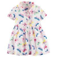 Carter's Baby Girls' Butterfly Poplin Shirt Dress