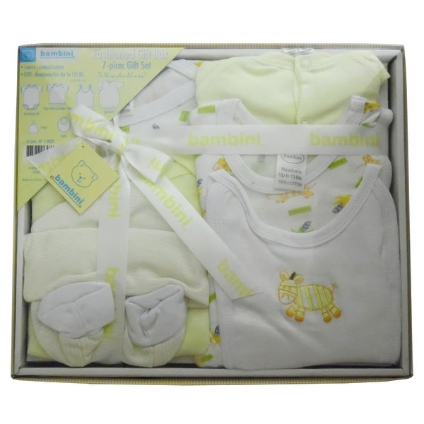 Bambini 7 Piece Gift Box (Yellow, Newborn)