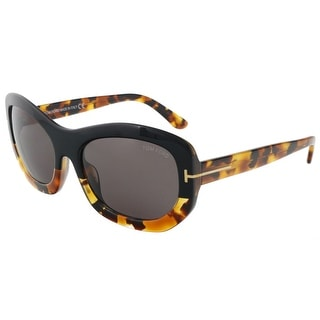 Tom Ford FT0382/S 05A Amy Black/Tortoise Rectangle Sunglasses