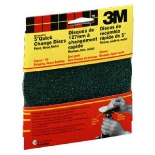 3M 9143W Quick Change Sanding Disc 5'', 40 Grit