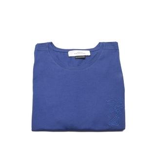 Versace Collection Men's Cotton Casual Medusa Head T-Shirt Purple