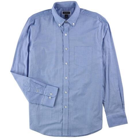 Club Room Mens Oxford Cotton Button Up Shirt