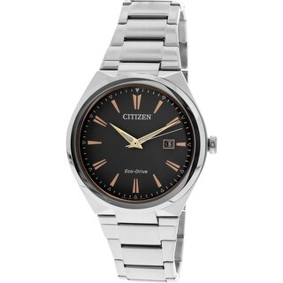 Citizen Men's Silver Stainless-Steel Eco-Drive Dress Watch