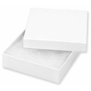 Darice 1162-94 Jewelry Boxes 3.5 in.X3.5 in.X1 in. 6- Pkg-White