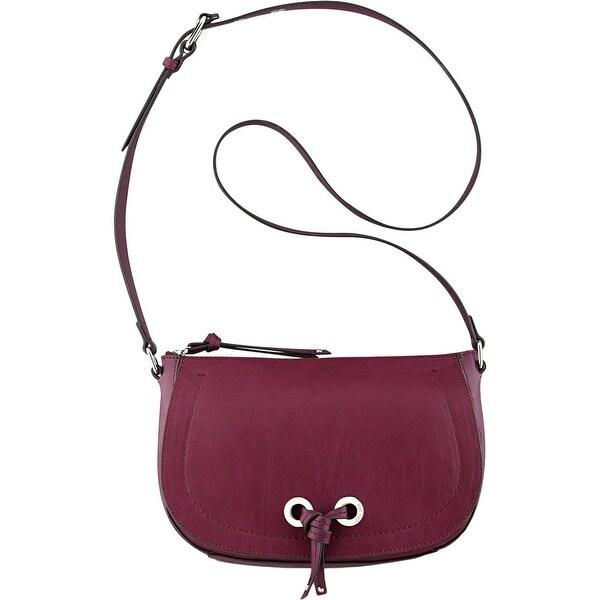 Nine West Womens Bohemian Beltway Crossbody Handbag Faux Leather Adjustable - MEDIUM