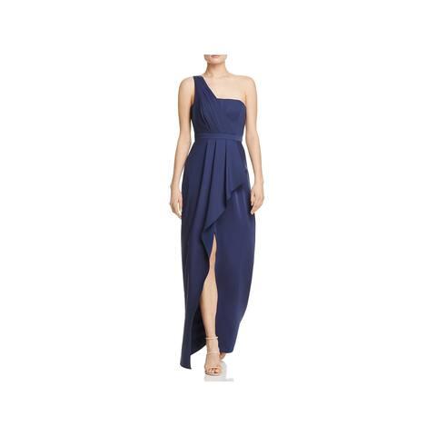 BCBG Max Azria Womens Kristine Evening Dress One Shoulder Full Length