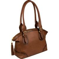 Scully Women's Pebbled Leather Double Handle Handbag - One size
