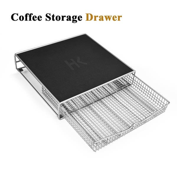 Hk Coffee Storage Drawer Holder Organizer W Rack Mat