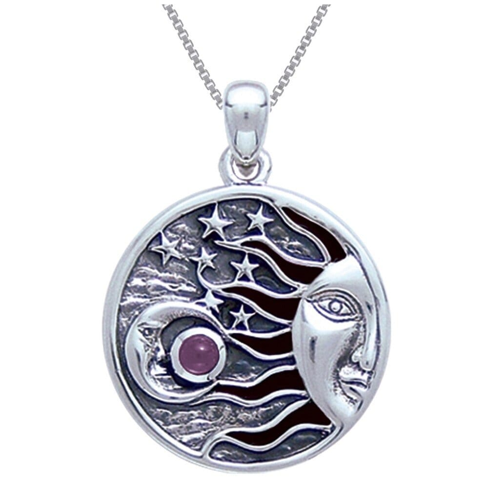 Celestial Moon and Star Pendant