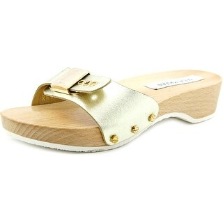 Steve Madden Jadey Open Toe Leather Slides Sandal