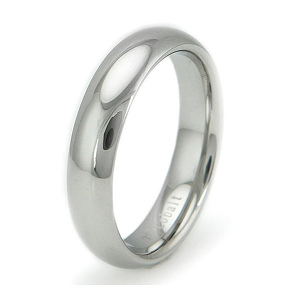 Cobalt Chrome Classic Dome Ring Wedding Band