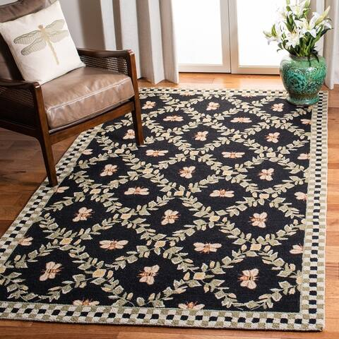 SAFAVIEH Hand-Hooked Chelsea Aubree Country Cottage Trellis Wool Rug