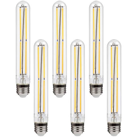 Dimmable 4.5W LED Tube Bulbs 2700K Soft White, T10 Tubular Edison LED Filament Bulb - 6PACK