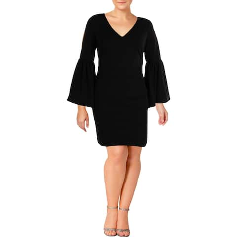 Lauren Ralph Lauren Womens Petites Janae Party Dress Bell Sleeves