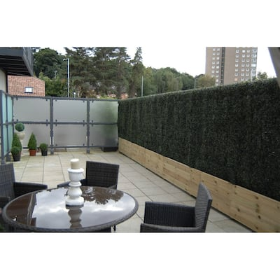 "20""x20"" Artificial Boxwood Hedge Greenery Panels - 36pc"