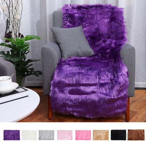 Faux Sheepskin Area Rug Indoor Carpet Rugs