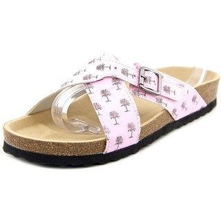 Re-Sole Tanja Youth Open Toe Synthetic Pink Slides Sandal