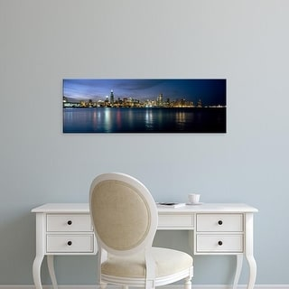 Easy Art Prints Panoramic Images's 'City at the waterfront, Chicago, Cook County, Illinois, USA' Premium Canvas Art