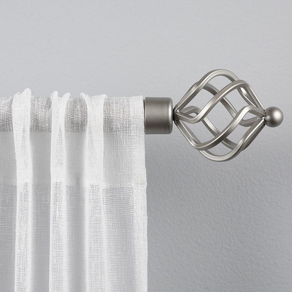A/&F Rod Decor Ashland Double Curtain Rod 28-48 inch Black