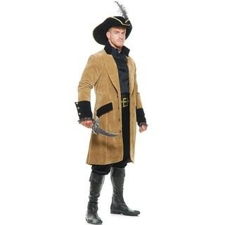 Mens Elegant Pirate Coat, Exquisite Men's Pirate Coat - M