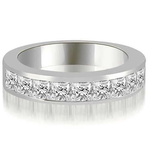 1.50 cttw. 14K White Gold Princess Diamond 9-Stone Channel Wedding Band
