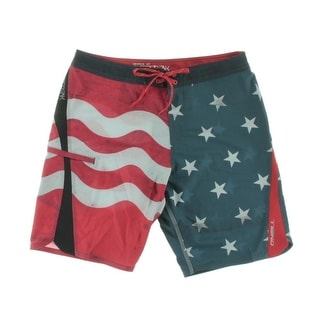 O'Neill Mens American Flag Distressed Swim Trunks