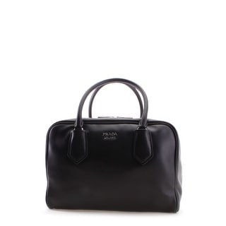 Prada Soft Calf Leather Inside Bag Tote Handbag - Black - M